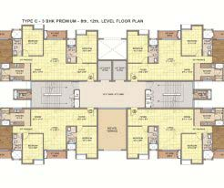Emami City Type_C8 8th and 12th Floor Plan