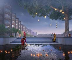Rameswara Riverview evening view