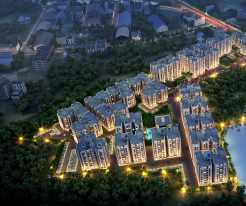 Majhergaon Aerial View Night