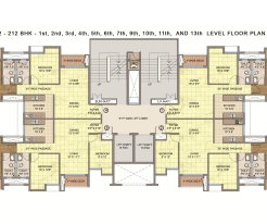 Emami City Type_A6 1st to 13th Floor Plan