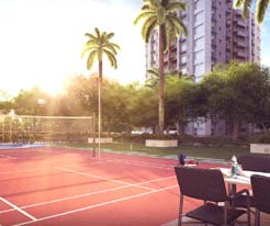 Suncrest Estate badminton court at the podium level