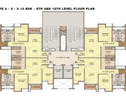 Emami City Type_A6 8th and 12th Floor Plan